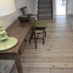 Original pine floor sanded ,stained and lacquered